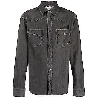 Neil Barrett Patch Tasche Chambray Shirt