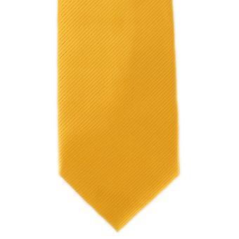 Michelsons London Plain Rib Polyester Tie - Orange