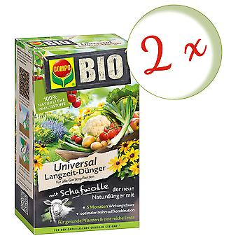 Sparset: 2 x COMPO BIO Universal long-term fertilizer with sheep wool, 4 kg