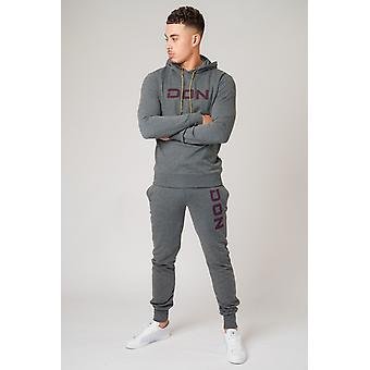 Don applique grijze mergel hoodie