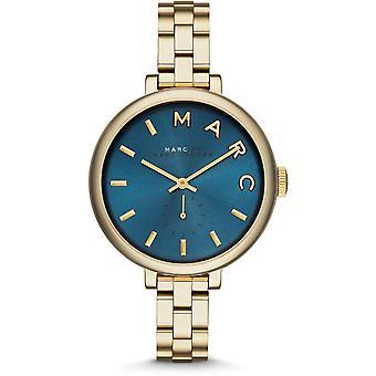 Marc Jacobs MBM3366 Sally Blue Dial Gold-Tone Ladies Horloge