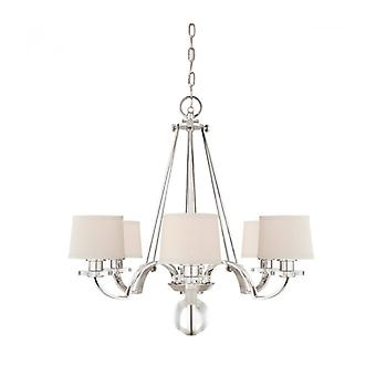 Sutton Pendant Light, Imperial Silver, 6 Bulbs