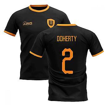 2020-2021 ولفرهامبتون بعيدا مفهوم كرة القدم قميص (دوهرتي 2)