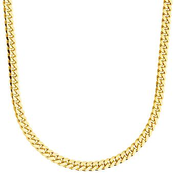 Sterling 925 silver tank chain - MIAMI CUBAN 4mm gold