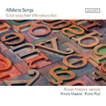 Raquel Andueza - Alfabeto Songs: Guitar Songs From the 17th Century [CD] USA import