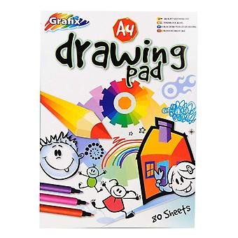 Grafix A4 Plain ritning och färgning pad 80 ark
