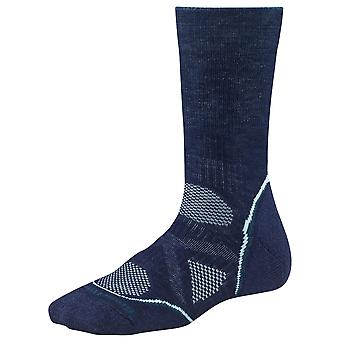 Smartwool Women's PhD Outdoor Medium Crew Performance Socks (Navy, S)