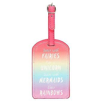 Étiquette à bagage en quelque chose de différent arc-en-ciel
