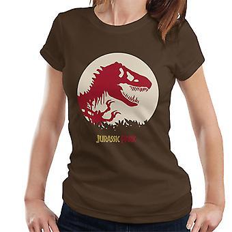 Jurassic Park rood silhouet vrouwen ' s T-shirt