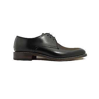 Loake Drake Zwart Kalf Lederen Mens Derby Schoenen