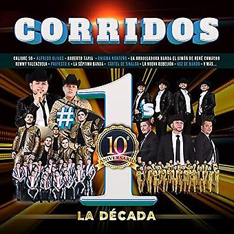 Corridos #1's La Decada [CD] USA import