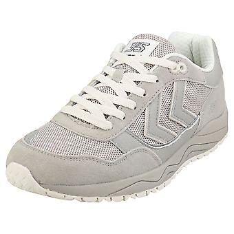 hummel 3-s Mens Casual Trainers in Silver