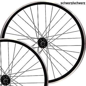 "Point SingleSpeed wheelset 28"" (fixed) = black, white, red"