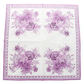 Paper Napkin Square Printed Serviettes Party  Wedding Tableware Decor -paper Napkins & Serviettes