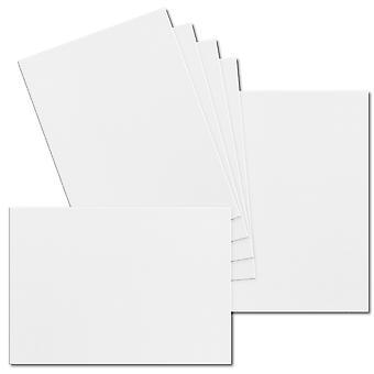 تأثير الأبيض. 148mm × 210mm. A5 القياسية. ورقة بطاقة 250gsm.