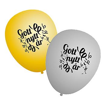 Balloons Happy New Year - 20-pack - Gold and Silver