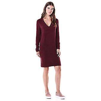 Brand - Daily Ritual Women's Mid-Gauge Stretch V-Neck Sweater Dress, B...