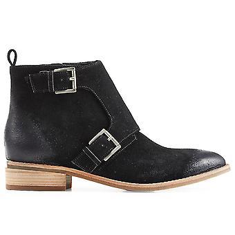 Michael Kors Ezcr073001 Women's Black Leather Ankle Boots