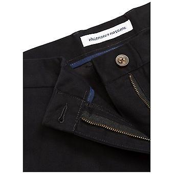 Essentials Men's Slim-Fit Wrinkle-Resistant Flat-Front Chino Pant, Preto, 30W x 30L