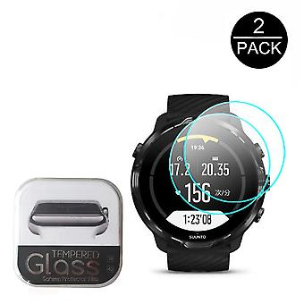 2pcs Clear Tempered Glass For Suunto7 Smartwatch, Screen-protector 2.5d 9h