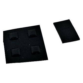 Feet & screw cover set for ds nintendo console rubber silicone replacement - black | zedlabz