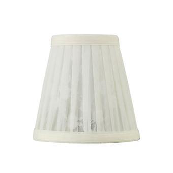 Organza 13 cm kuvio clip-on lampunvarjostin kerma