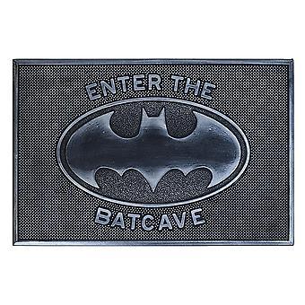 Batman rubber doormat Enter the Batcave black, 100% rubber, non-slip.