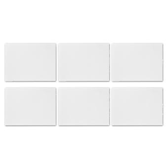 Glass Placemats Set | 40 x 30cm - White | Non Slip Tempered Dining Table Mats