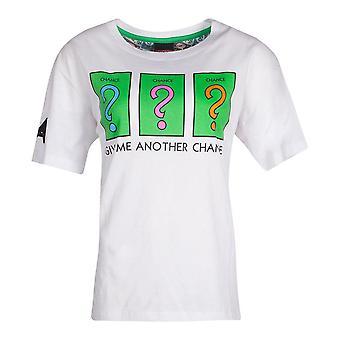 Hasbro Monopoly Chance T-Shirt Żeński Średni Biały (TS785147HSB-M)