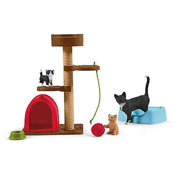 Schleich playtime for cut cats play set for children over 3 years old