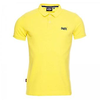 Superdry Classic Pique S/S Polo Amarillo 0ZL