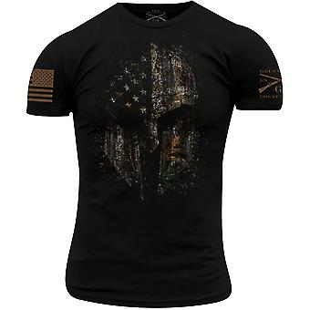 Grunt Style Realtree Edge American Spartan T-Shirt - Black