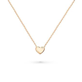 Necklace Full 18K Gold Heart