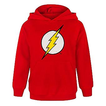 Flash offizielle Distressed Logo Boy's Charakter Hoodie