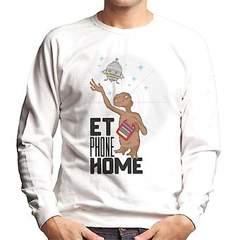 E.T. Phone Home Olhando para Spacecraft Men's Sweatshirt