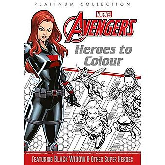 Marvel Avengers: Heroes to Colour (Platinum Colouring)