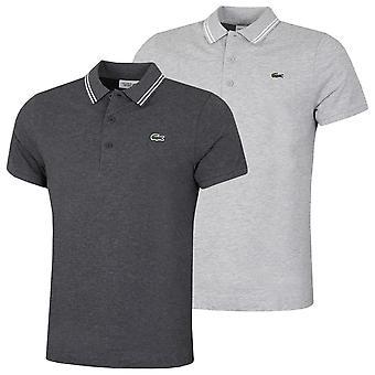 Lacoste Mens Sport Contraste Sotaque Leve Algodão Polo Camisa polo