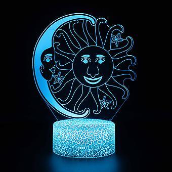 3D Touch Light Night 7 kleuren met afstandsbediening - Lune #827