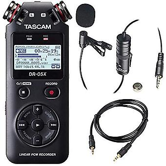 Tascam dr-05 (version 2) portable handheld digital audio recorder (black) wit... ps60563