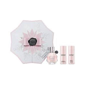 Viktor & Rolf FlowerBomb Christmas Edition Gift Set 50ml EDP + 50ml Body Lotion + 50ml Shower Gel