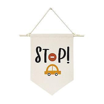Stop-hanging Wandbanner