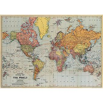 Cavallini World Map Wrap / Luxury Poster Decoupage