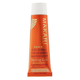 Makari Toning Gel Carrot & Argon - 30g - Organiclarine Skin Lightening - Facial Use - Promotes Younger Looking Skin - Helps Fade Dark Spots - Natural