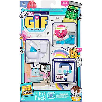 Ah, não! Meu Pacote de Brinquedos Gif 3 - Doughby & Flippy Figuras Animadas Colecionáveis
