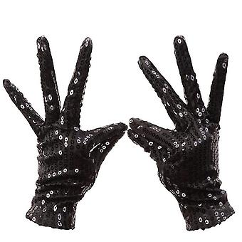Unisex Adult Acting Michael Jackson Cos Shiny Gloves Mj Sequins Ds Performance