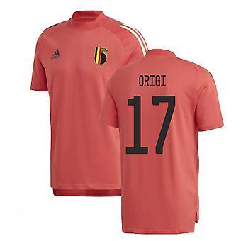 2020-2021 Belgien Adidas Utbildning Tee (Röd) (ORIGI 17)