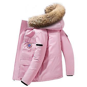 Down Jackets Men Winter Fashion Thick Warm Parkas Fur Coats Casual Waterproof