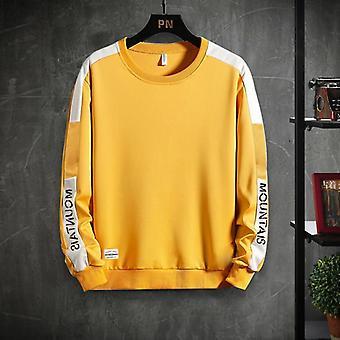 Heldekkende farge Sweatshirt, Menn Hettegensere, Høst, Vår Hettegenser, Casual Bomull