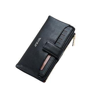 YANGFAN المرأة & apos;ق متعددة بطاقة محفظة السفر متوسطة الطول محفظة