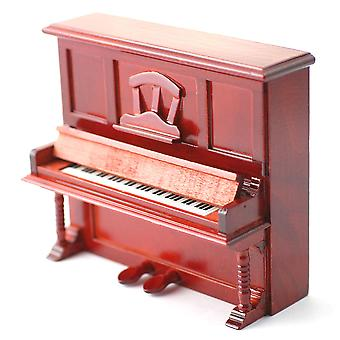 Dolls House Acajou Upright Piano Miniature Music Room Pub Bar Meubles 01:12